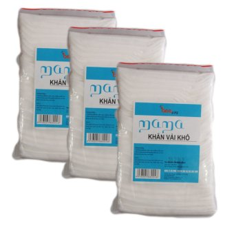 Bộ 3 túi khăn vải khô đa năng Mama 3 x 240 miếng