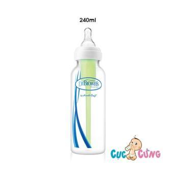 Bình sữa cổ thường Dr Brown nhựa PP 240ml