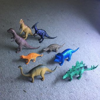 Bộ đồ chơi 8 chú khủng long bằng nhựa dẻo Natural World