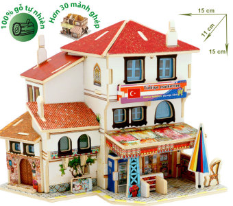Đồ chơi xếp hình ghép hình gỗ -3D Jigsaw Puzzle Wooden Toys HPM6140