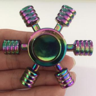 Con quay Fidget Spinner 6 cánh bánh lái 7 màu cực đẹp