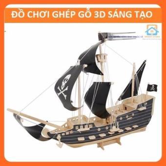Đồ chơi ghép gỗ 3D-Thuyền cướp biển