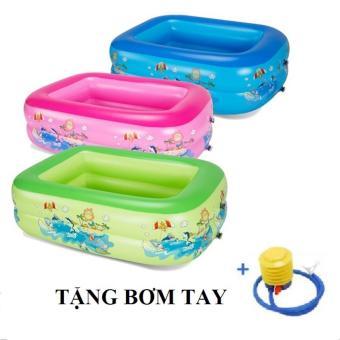 Bể bơi phao 2 tầng cho bé GocgiadinhVN - Tặng bơm tay(Xanh)