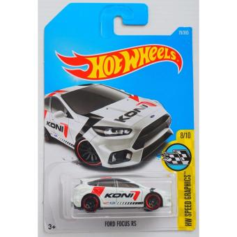Xe ô tô mô hình tỉ lệ 1:64 Hot Wheels Ford Focus RS Hw Speed Graphics 8/10 79/365 ( Trắng )