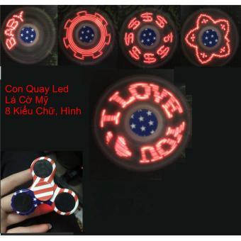 Con Quay Giảm Stress Hand Spinner - Đèn LED Hot 2017 (màu đen)