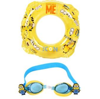 Bộ phao tròn 50cm và kính bơi hình Minions Mesuca XM702037