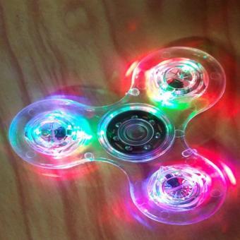 Con quay giảm stress Fidget Spinner bằng nhựa trong suốt có đèn LED