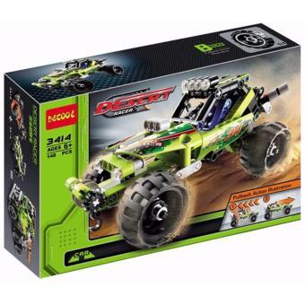 Bộ lắp ghép mô hình xe đua Decool 3414(Xanh lá nhạt)
