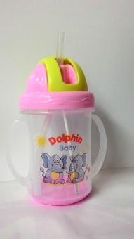 Bình uống nước có ống hút cao cấp Dolphin 280ml