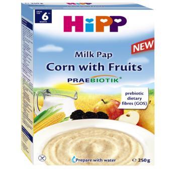 Bột dinh dưỡng Hipp sữa, bắp, hoa quả (250g)