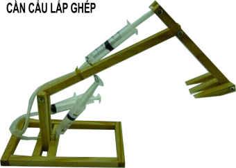Đồ chơi giáo dục lắp ghép máy xúc bằng gỗ
