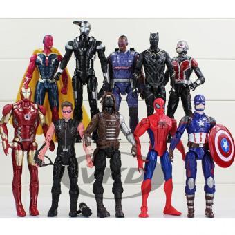 Bộ mô hình 10 nhân vật Marvel Avengers