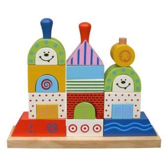 Đồ chơi gỗ xếp hình chiếc thuyền (61162)