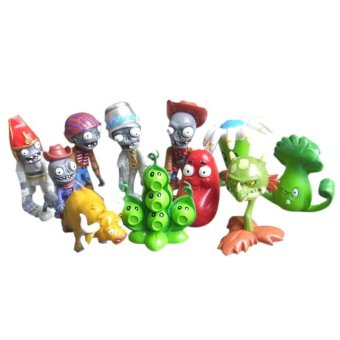 10pcs Set Plants Vs Zombies Game Series Figure Role Display Toys Zombie Yeti PVC Decor - intl