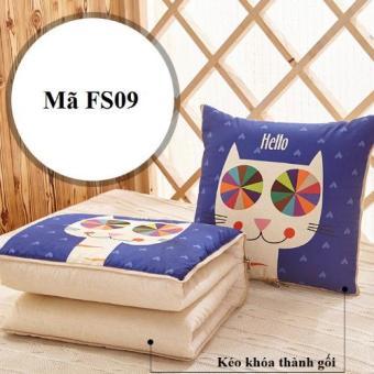 Bộ chăn gối 2 trong 1 mèo FS09