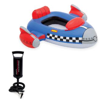 Bộ phao bơi Intex 59380 (Xanh) và Bơm tay bơm bể bơi phao bơi 68612