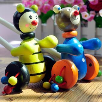 Đồ chơi xe kéo đẩy nhiều màu sắc