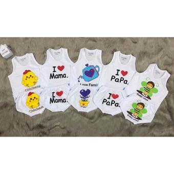 Combo 2 Bộ áo ba lỗ quần mông thú cho bé (3-36 tháng)