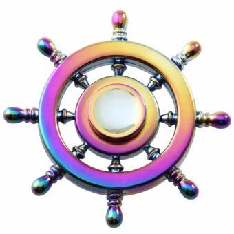 Con Quay bánh lái tầu đa sắc đổi mầu bằng kim loại Fidget Spinner không ma sát xả stress
