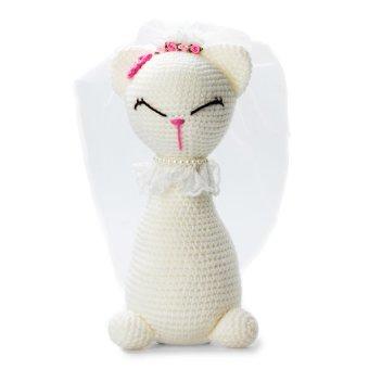 Mèo đứng trắng Bobi Craft 013WHI-L 24cm