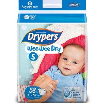 Tã dán Drypers Wee Wee Dry S58 (3-7kg)