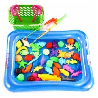 Bộ đồ chơi câu cá cho bé kèm bể phao có bơm tay