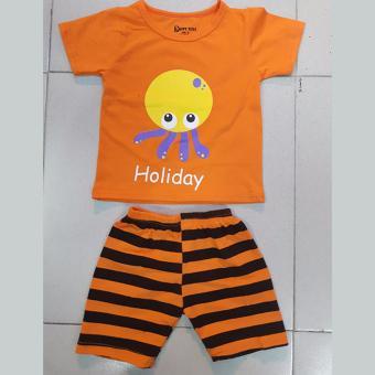Bộ quần áo trẻ em in hình bạch tuộc dễ thương cho bé