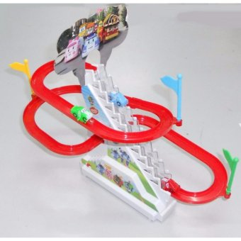 Bộ đồ chơi ô tô leo cầu trượt chạy bằng Pin