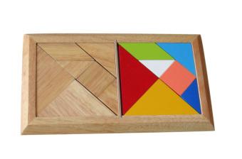 Miếng ghép tangram đôi bằng gỗ Winwintoys 61172