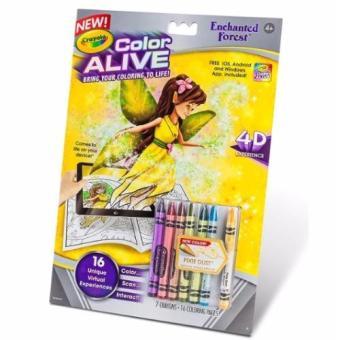 Tập và bút tô màu thần kỳ 4D Crayola Color Alive Enchanged Forest