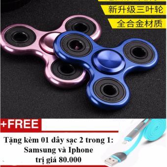 Con quay Spinner 3 cánh kim loại phổ biến nhất trên thị trường + Tặng 01 dây sạc điện thoại 2 trong 1 cho Iphone và Samsung