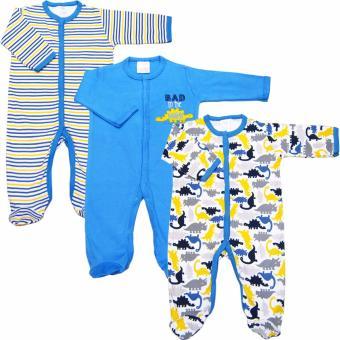 Bộ 3 áo liền quần liền tất bé trai Baby Gear (Mẫu khủng long)