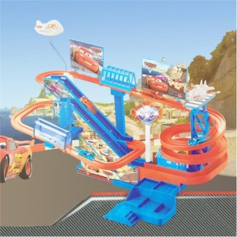 Bộ đồ chơi mô hình đường ray trượt ô tô có nhạc đèn