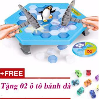 Bộ trò chơi đập băng bắt chim cánh cụt - cực vui nhộn Penguin Trap + Tặng 02 ô tô bánh đà