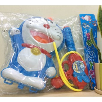 Súng bắn nước balo hình Doremon cao cấp cho bé (Xanh)