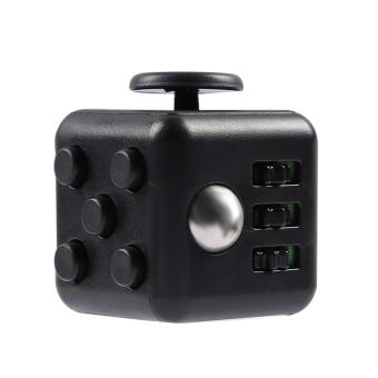 Mini Portable Fashion 1.3inches Fidget Cube Relieves Stress Anxiety 6-sides Desk Toy for Children Adults Anxiety Attention Black - intl