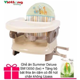 Ghế ăn Summer Deluxe SM13050 (be) + Tặng bộ bát thìa ăn dặm có đế hút chân không Upass