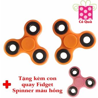 Đồ Chơi Con Quay Giúp Xả Stress Fidget Spinner (Màu cam) + Tặng Con Quay Fidget Spinner (Màu hồng)