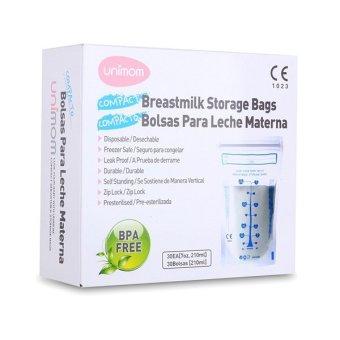 Túi đựng sữa mẹ (trữ sữa mẹ) Unimom Compact không có BPA 210ml (30 túi/hộp)