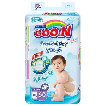 Tã giấy Goon Super Jumbo XL50 (12- 20 kg)