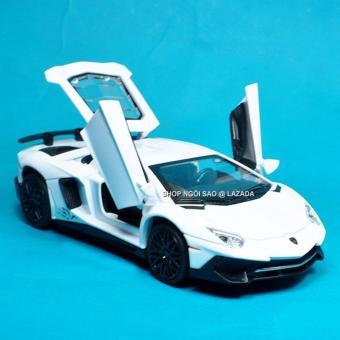 Xe Mô Hình Sắt Tỉ Lệ 1:32 Sieu Xe Kiểu Dáng Lamborghini Aventador SV - Trắng