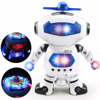 Robot Thông Minh Xoay 360 Độ Nhảy Theo Điệu Nhạc (Trắng)