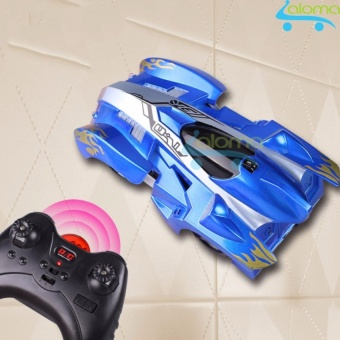 Ô tô đồ chơi leo tường điều khiển từ xa kiểu dáng xe đua KIDNOAM (Blue)