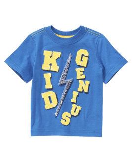 Áo phông cộc tay Crazy8 Kid Genius (Xanh)
