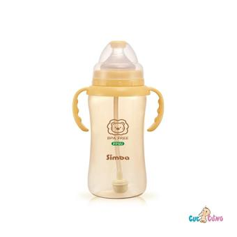 Bình sữa Simba hồ lô cổ rộng có tay cầm nhựa PPSU 360ml(Vàng nhạt)