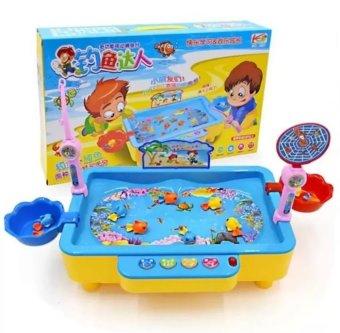 Bộ bể câu cá điện tử cho bé có phát nhạc (Xanh )