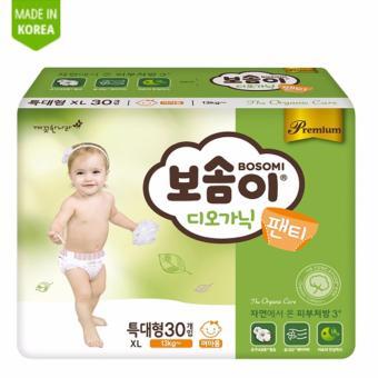Tã quần cao cấp Hàn Quốc Bosomi Organic (Size XL - Dành cho bé gái trên 13kg) - Hàng Chính Hãng