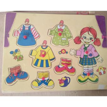 Đồ chơi gỗ ghép hình trang phục cho bé TP01