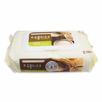 Khăn ướt chăm sóc da Kleannara 5 tinh chất dưỡng và làm tươi mới làn da Hàn Quốc ( Có nắp x 100 tờ ) - Hàng Chính Hãng