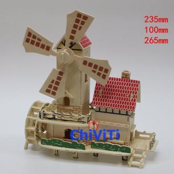 Đồ chơi xếp hình 3D mô hình cối xay gió